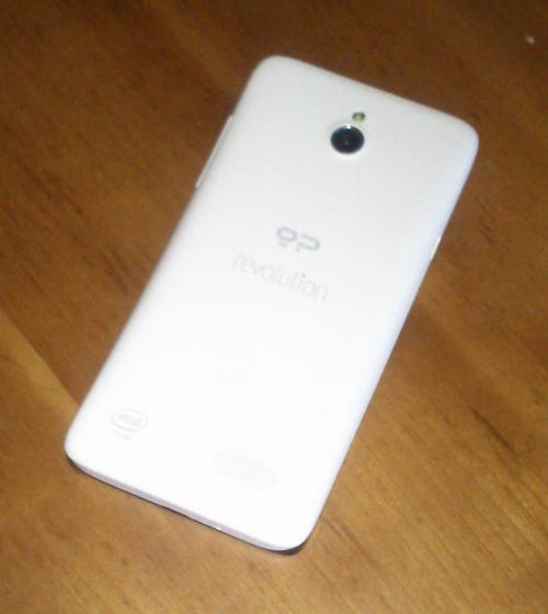The back of Geeksphone's Revolution