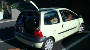 All my life and belongings in a small twingo across Europe !